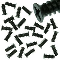Pack of 25 5x12mm Black PC Fan Screws - Computer Case Chassis 80mm/120mm