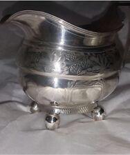 Antique Georgian Irish Provincial solid sterling silver cream jug, Cork C1810