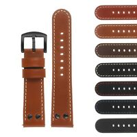 DASSARI Pilot Quick Release Leather Watch Band Strap w Black Rivets for TW Steel