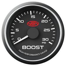 SAAS Boost Gauge Diesel 0-30 psi 52mm Black Muscle Series SG-TBD52B