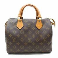 Authentic Louis Vuitton Hand Bag Speedy 25 M41528 Brown Monogram 114655