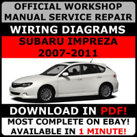 # OFFICIAL WORKSHOP Service Repair MANUAL for SUBARU IMPREZA, STI 2007-2011 #