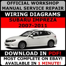 OFFICIAL WORKSHOP Service Repair MANUAL for SUBARU IMPREZA, STI 2007-2011 #