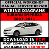 OFFICIAL WORKSHOP Service Repair MANUAL for SUBARU IMPREZA, STI 2007-2011