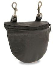 Ladies Premium Leather  Purse Handbag Motorcycle Biker Clip On Pouch Bag 7.5x6
