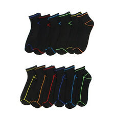 NEW MEN'S ECKO UNLIMITED N0 SHOW SOLE SOCKS 12 PAIRS VALUE PACK SIZE 6-12