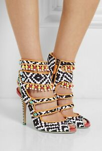 Sophia Webster NEW Multi Color Beaded High Heels Sandals 37.5 Like New 1300$