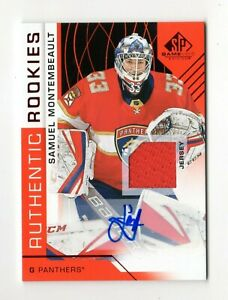 SAMUEL MONTEMBEAULT NHL 2018-19 SP GAME USED RED AUTO JERSEY (FLORIDA PANTHERS)
