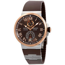 Ulysse Nardin Marine Chronometer Automatic Brown Dial Mens Watch 1185-126-3T/45