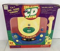 RADIO SHACK Vintage Sing-a-Long CD Karaoke Machine Kids Toy Microphone NEW RARE!