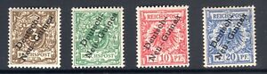 1897 GERMAN NEW GUINEA SET OF 4 MINT HINGED