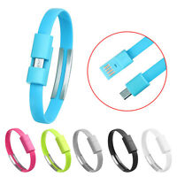 Universal Wristband Micro USB Cable Charger Charging Data Sync For Android Phone