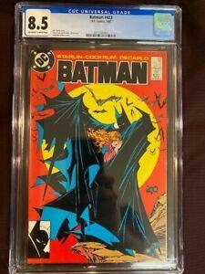 BATMAN #423 CGC 8.5 VF+ 1st Print Classic Iconic Todd McFarlane Cover 1988 DC