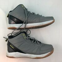 AND1 Mens Grey Basketball Shoes Size 8.5 Eur 41.5 Gray Sneakers