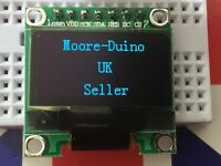 """Blue SPI 128X64 OLED LCD LED Display Module For Arduino 0.96"""" Serial UK New"""