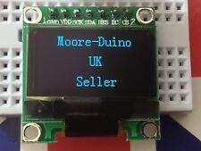 "Blue SPI 128X64 OLED LCD LED Módulo de pantalla para Arduino 0.96"" Serial Reino Unido Nuevo"