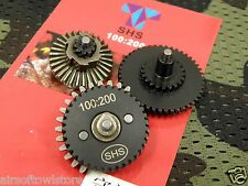 Airsoft Gear Set 100:200 SHS Low Noise Torque Gen3 V2/3 AEG Metal (249)