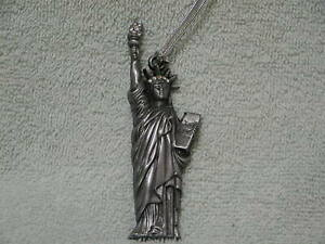 Statue Of Liberty New York Pewter And Crystals Ornament