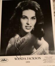 Wanda Jackson Gorgeous 8 X 10 Signed Autograph COA GA