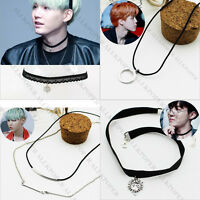 KPOP BTS Necklace Bangtan Boys Ring Pendant JIMIN SUGA BAP Fashion Jewelry Gift