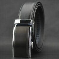Business Men's Cowhide Leather Belt Automatic Buckle Waistband Gift Jeans Dress