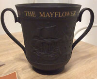 ROYAL DOULTON BLACK BASALT LIMITED EDITION MAYFLOWER TWIN HANDLED LOVING CUP