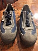 Fabiano Scarpa Leather Vintage Mountaineering/Hiking Boots 9.5M Blue Gray