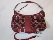 COACH Burgundy Metalic Signiture Gallery Shoulder / Crossbody Handbag  F20426