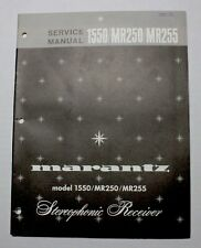 MARANTZ 1550/MR250/MR255 SERVICE MANUAL ORIGINAL PAPER