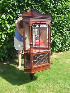 LARGE VICTORIAN MAHAOGANY HANGING CUPBOARD