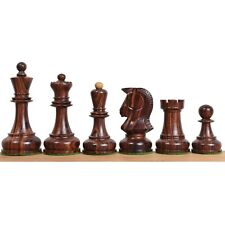 """1970s' Dubrovnik Chess Pieces Only Set- Triple Weighted Rosewood - 3.8"""" King"""