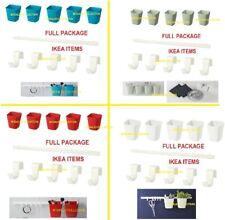 SUNNERSTA Kitchen Bathroom Office Storage Pots Rail Hooks Containers Holder PUP1