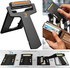 New Ultra Portable Carzor Card Razor Wallet Credit Card Mini Travel Mirror Blade