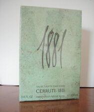 Cerruti 1881 pour Homme  100ml edt Vaporisateur Neuf sous blister