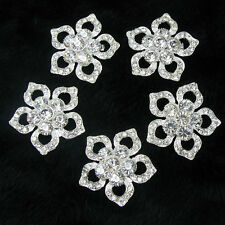 Wholesale 50x Clear Rhinestone Brooches Pin Bridal Wedding Bouquet Decor Supply