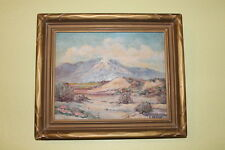 Lucille Delano Framed Oil Painting Indian Wells California Palm Springs