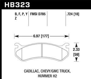 Hawk 06 Chevy Avalanche 2500 / GMC Truck / Hummer Super Duty Street Rear Brake P
