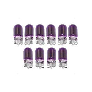 10x 194 Violet T10 Compensé Voiture Mini 5050 Brillant Léger Bulbes W5W 2825 158