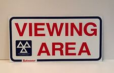 MOT Viewing area sign Used Plaque Sign Bar Pub Club Wall Home Den Man Cave Decor