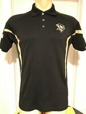 Pittsburgh Penguins Mens Golf Polo Shirt Embroidered Medium Black
