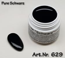 5 ml  UV Exclusiv Farbgel Pure Schwarz Gel Nr.629
