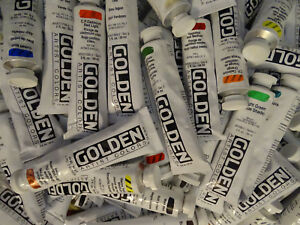 Golden Heavy Body Artists' Acrylic Paint, 2 oz, flat rate shipping, 100 colors