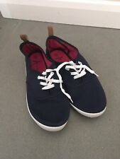 Ladies Atmosphere Navy Blue Canvas Shoes - Size 8