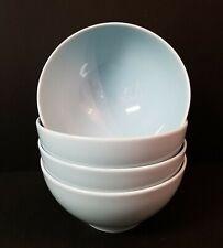 "Set of 4 IKEA 365 Susan Pryke 6.25"" Powder Blue Turquoise Soup Cereal Bowls"