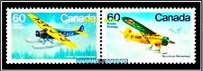 2x CANADA 1982 MILITARY PLANES NORSEMAN & FOKKER FV FACE $1.20 MNH STAMP LOT