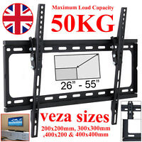 Slim TV Wall Bracket Mount Tilt For 26 30 32 40 46 48 50 55 inch LCD LED Plasma