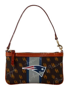 Dooney Bourke NFL New England Patriots Brown Tmoro Small Zip Bag Purse NWT $108