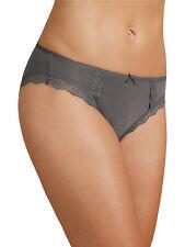 M & S Size 10 Cotton Rich High Leg knickers panties briefs slate Grey
