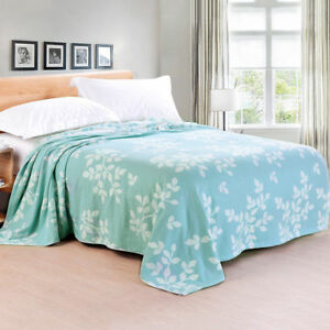 breathable pure cotton blanket thin gauze blankets air conditioning bed cover