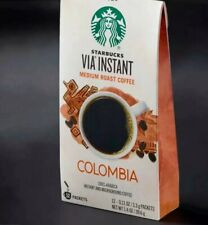 Starbucks VIA INSTANT Colombia coffee  5 boxes, 60 packets